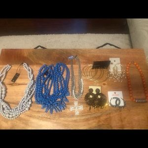 Bundle of earrings and necklaces
